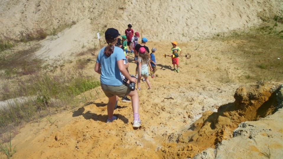 Kanion piaskowy w Grynwald - jedno z najbardziej ulubionych miejsc do zabawy przez dzieci